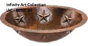 IAC–0052CSH Single Wall Hammered Copper sink