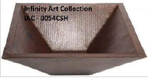 IAC-0054CSH Double Wall Hammered Copper Sink