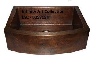 IAC–0057CSH  Double Wall Hammered Copper Sink