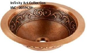 IAC- 0059CSH Single Wall Hammered Copper sink