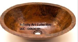 IAC–0060CSH Single Wall Hammered Copper sink