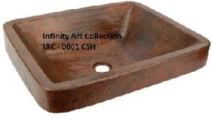 IAC–0061CSH Single Wall Hammered Copper sink