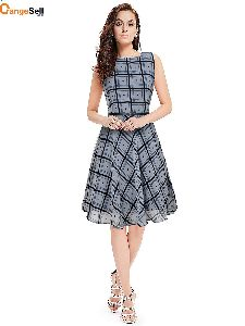 Checkered One Piece Dress