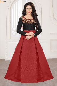 Designer Black & Red Gown
