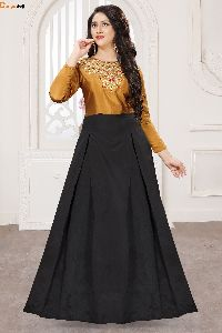 Designer Golden & Black Gown
