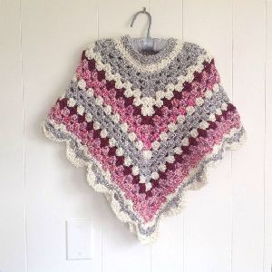Girls Crochet Poncho