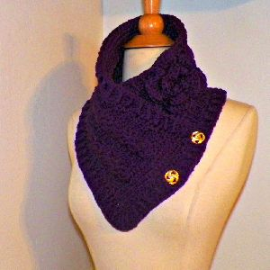 Ladies Crochet Scarf