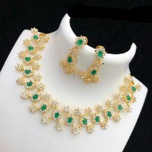 American Diamond Chain With Earrings