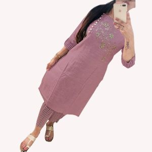 Cotton Kurti with Palazzo Pants