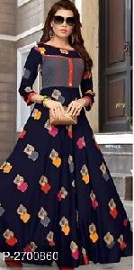 Rayon Cotton Anarkali Kurti