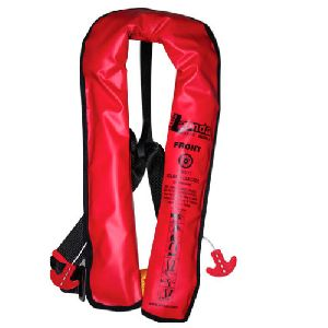 Red Inflatable Life Jacket