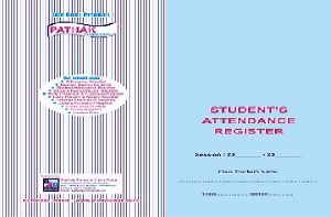 45 Student Attendance Register Printing Services