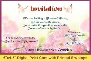 Digital Printed Invitation Cards