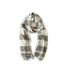 Cream & Grey Pashmina Stole