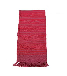 Fuscia & Red Lambswool Shawl