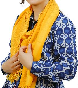 Yellow Lambswool Scarves