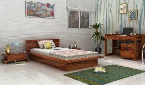 sheesham wood king size bed