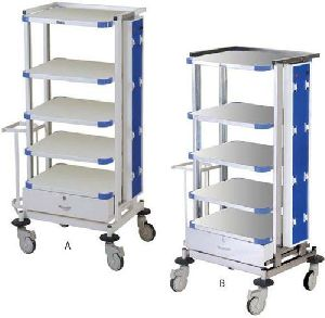 Hospital Monitor Trolley