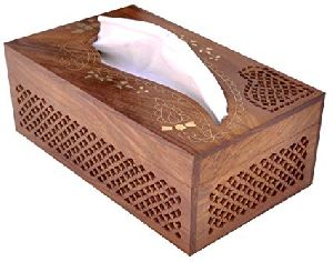 Wooden Enamel Tissue Boxes