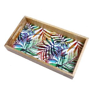 Wooden Enamel Trays
