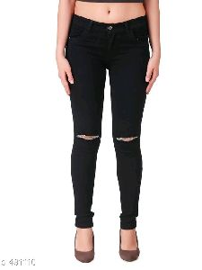 Ladies Black Skinny Jeans