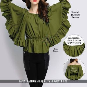 Ladies Ruffled Wing Top