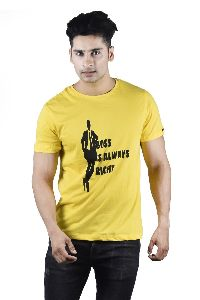 Mens Boss is Always Right Printed T-Shirt