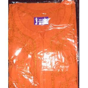 Orange Cotton kurti