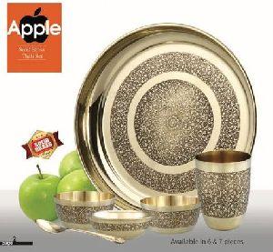 Apple Solid Brass Thali Set