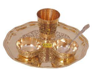 Brass Thali Set