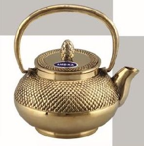 Dana Full Handle Brass Teapot