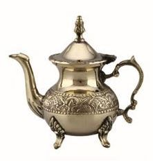 Embossed Brass Teapot
