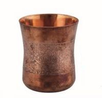 Embossed Copper Glass