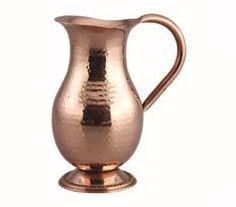 Mughlai Hammered Copper Jug