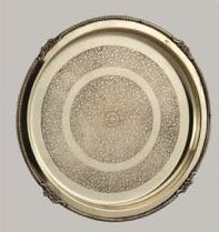 Round Border Brass Plate