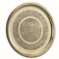 Round Flora Brass Plate
