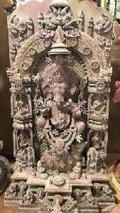 Antique Ganesha Stone Statue