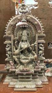 Maa Saraswati Stone Statue