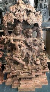 Radha Krishna Stone Statue