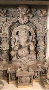 Stone Sitting Ganesha Statue