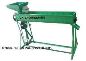 Single Screw Dal Polisher Machine