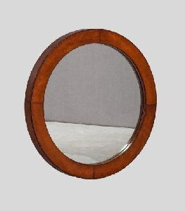 Leather Covered Mirror