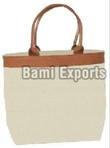 Canvas Leather Handbag