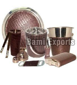 Leather Bar Set