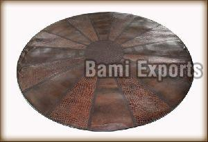 Leather Round Rugs