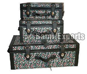 Leather storage box