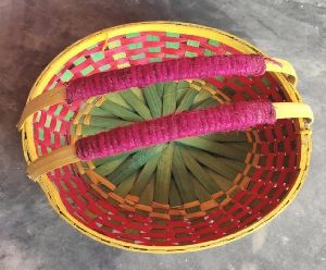 Bamboo Basket With Handle