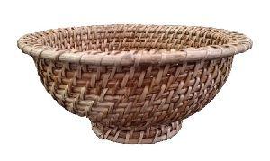 Cane Round Basket Without Handle