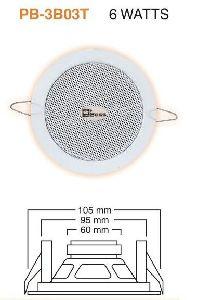 PB 3B03T PA Ceiling Speaker