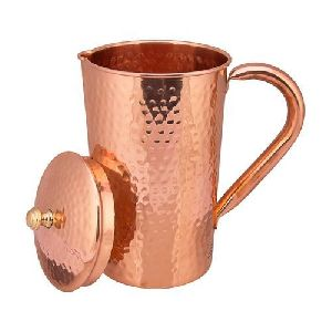 Copper Hammared Jug